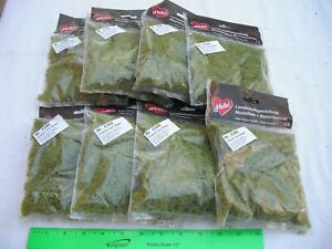Lot of 8 Heki 3386 Coarse Turf Green, Flock Scenery Landscape, N HO Scale