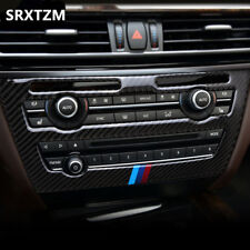 Genuine Carbon Fiber Central CD Panel Cover Trim For BMW X5 X6 F15 F16 2014-2017