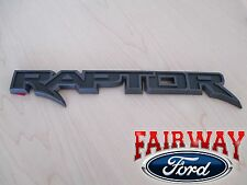 17 -18 F-150 OEM Genuine Ford Parts RAPTOR Black Tail Gate Emblem Nameplate Trim