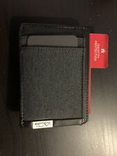 BRAND NEW TUMI ALPHA SLG MONEY CLIP CARD CASE MEN'S WALLET ANTHRACITE/BLACK