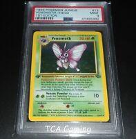 PSA 9 MINT Venomoth 13/64 1ST EDITION Jungle Set HOLO RARE Pokemon Card