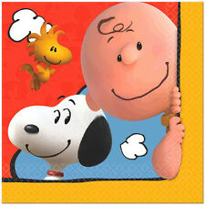 16x The Peanuts Movie Charlie Brown Large Lunch Napkins Birthday Party Supplies