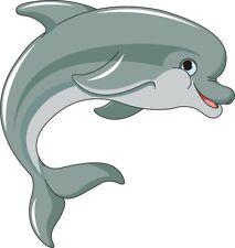 Aufkleber lustiger Delfin Delphin Autoaufkleber Konturschnitt