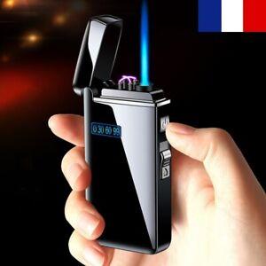 2021 Briquet Tempête LED Métal USB Rechargeable + Gaz Barbecue Cigarette