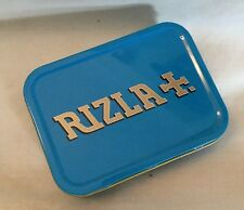 ** NEW ~ 2oz Non Hinged ~ BLUE ~ RIZLA ~ Tobacco Tin **