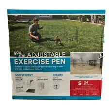 "You & Me Adjustable Foldable Exercise Pen, 24"" Dog Pen Exercise Pen"