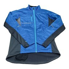 Sugoi Jackie Cycling Running Jacket Womens XL Thermal Reflective Windproof Blue
