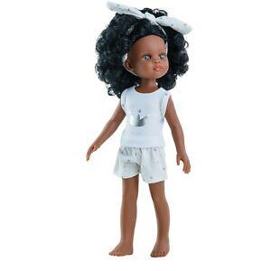 Paola Reina Doll Nora Pyjama Friends Dark Skin 32cm Vanilla Scent 13205