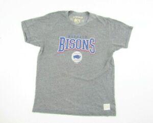 BUFFALO BISONS Toronto Blue Jays T-Shirt L Large Gray Retro Brand USA Made