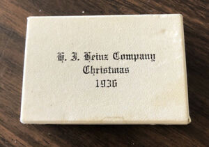 Antique Compact 1936 Heinz Ketchup Employee Christmas Evans Case Company