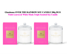 Glasshouse OVER THE RAINBOW 2x380g Soy Candle Violet Leaves & White Musk Scented