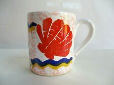 Ceramic Mug Spongeware and Seashell Print Made in Italy