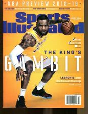 2018-19 Sports Illustrated NBA Preview Regional Newsstand No Label Lebron James