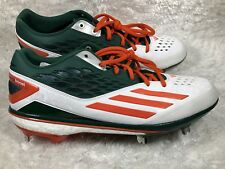 Adidas Energy Boost Icon Miami Hurricanes PE Omaha Baseball Cleat Sz 11.5 AQ7638