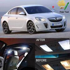 Error Free White 11 LED Interior Lights For Opel Insignia + Sports Tourer Sedan