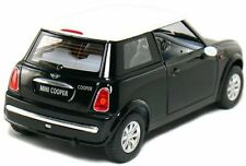 "Brand New 5"" Kinsmart Mini Cooper Diecast Model Toy Car 1:28 Pull Action Black"