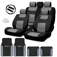 New Semi Custom Syn Leather Seat Covers Split Seat Vinyl Mats BG Set For VW