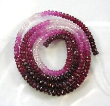 "SHADED RUBY faceted rondelle beads AA+ 3mm 16"" strand"