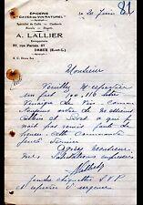 """DREUX (28) EPICERIE & CAVE DU VIN NATUREL """"A. LALLIER"""" en 1931"""