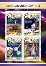 Djibouti 2016 Space Neil Armstrong Garagin S/S DJB16616a