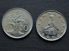 Simbabwe Zimbabwe 10 Cents  2002 KM#3a  UNC Münzen Afrika Währung  > Baobab tree