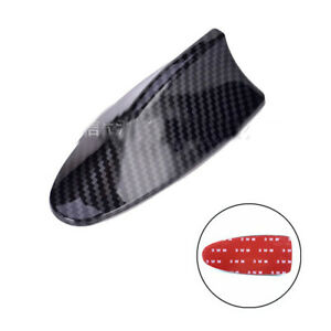 1x Carbon Fiber Style ABS Car Modified Shark Fin Antenna Auto Roof Mount Aerial