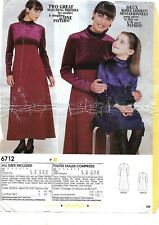New Look Sewing Pattern 6712 Matching Mother Girls Daughter Dress 3-8 8-16 UNCUT