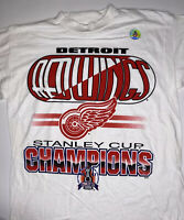 Vintage Deadstock Detroit Red Wings Stanley Cup Championship Medium T-Shirt