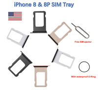 Sim Card Tray Replacement iPhone 8 iPhone 8 Plus with waterproof rubber ring