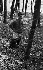 Negativ-Darmstadt-Soldat-seltene Uniform-Pinkel-Pause-toilet stop-pee-1930s
