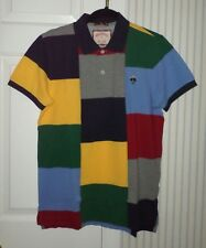 mens BROOKS BROTHERS patchwork color block s/s polo shirt sz m NWT $79.50