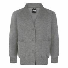 Zeco Child Adult Unisex School Sweatshirt V-Cardigan Plain (Chest 24-38'')Button