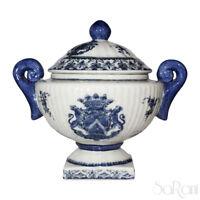 Potiche Ceramica Arcadia Antiquariato Vaso Coperchio Bianco Blu Decorato A Mano