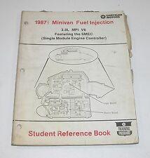 1987.5 Chrysler Minivan Fuel Inject 3.0L MPI V6 Featuring SMEC Student Ref Book
