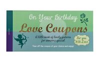 Love Coupons Vouchers Romantic Birthday Fun Greeting Cards Gift For Him Her