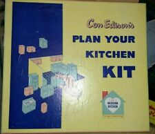Vintage 1950s Con Edison Plan Your Kitchen Set In Box - Designer Education Toy