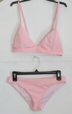 NEW Pink Bikini Set Size L swimwear Triangle top