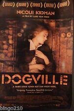 DOGVILLE ORIGINAL 1 SHEET  POSTER LARS VON TRIER NICOLE KIDMAN PAUL BETTANY 2003