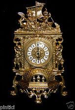 Kaminuhr MESSING TISCHUHR ANTIK BAROCK GOLD 42CM  MASSIV NEU
