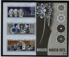 Malta 1973 Christmas MS 510 MNH