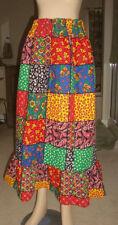 Vintage SKIRT Hippie Boho Patchwork Skirt - Long - Waist = 22 - 40 elastic