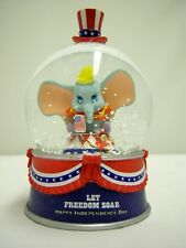 Dumbo the Elephant Independance Day  Miniature Snowdome / Water Globe Disney