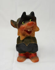 Henning Norway Carved Wood Mischievous Troll Hands In Pockets 5""