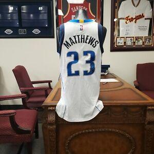 Wesley Matthews Signed Dallas Mavericks Authentic Jersey