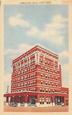 C3/ Paris Texas Tx Postcard Linen Gibraltar Hotel Building