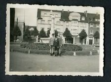 C1930s Original Photo - Group of 3 Boys In A Town - Location Unknown