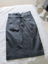 Gio-Goi Kelsey Women's Denim Skirt Size XS Colour Black