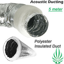 "2x4""/100mm Acoustic Ducting 5M Insulated Duct Fo Air-Con Heater Cooler Grow Tent"