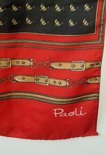 Paoli Equestrian Scarf, Equestrian Helmet Red, Black and Brown Horse straps 46""