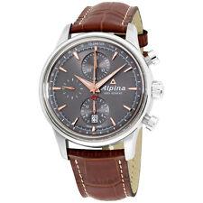 Alpina Alpiner Grey Dial Leather Strap Men's Watch AL750VG4E6